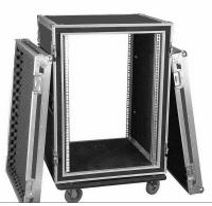 Quality Aluminum 10U Rack Flight Case For Travel , Guitar Flight Cases for sale