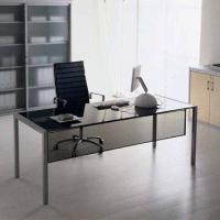 Quality Glass Office Desk with 15mm Tempered Glass for sale
