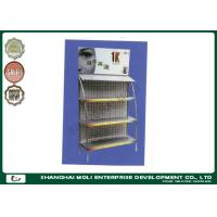 Quality Supermarket metal floor display , Shop Display Racks with hook shelving for sale