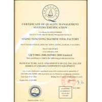 Yixing Shangbiao General Machinery Co.,Ltd Certifications