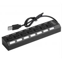 Quality 7 Ports Powered USB 2.0 Hub 480Mbps Portable 16.5 * 3.5 * 2.5cm For PC Laptop MAC for sale