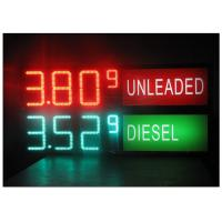 Quality LED Gas Station Sign for Oil Price , RF LCD Wireless Remote Control Digital 7 Segment Display for sale