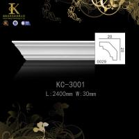 Quality Factory Offer High Quality Pu Foam material white color pvc film  Decorative Crown Moulding for sale