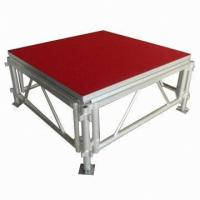 Quality Portable Waterproof Acrylic / Plywood Temporary Stage Platforms Heavy Loading Adjustable Height for sale
