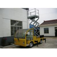 Quality Yellow / Blue Vehicle Mounted Work Platforms 9 meter Height With 306 kg Load for sale