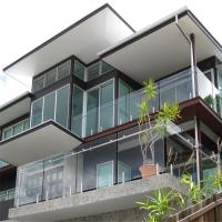 Buy Clear Glass Panel steel polish spigots design railing system for fence at wholesale prices