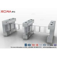 Quality Gym Swing Barrier Gate Electronic Stainless Steel Turnstile Double Swing IP 54 LED Indicator for sale