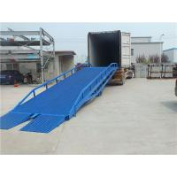 Quality Manual Control Portable Truck Loading Ramps Drive Hydraulic For Warehouse for sale
