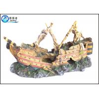 Quality Ship Cool Fish Tank Decorations Non-toxic Polyresin Ornaments For Aqua for sale