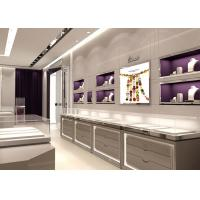 Quality Contemporary Gray Color Jewelry Display Cases Full Assembly Structure for sale