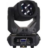 Quality 4pcs 25w Entertaining Light RGBW 4IN1 LED Super Rotating Shapy Moving Head for sale