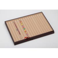 Buy cheap 18 Slots MDF Inside Yellow Microfiber Surface Chain Display Tray from wholesalers