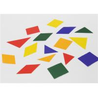 Quality Special Design Gummed 2d Shapes , Coloured Paper Shapes For Jigsaw Puzzle for sale