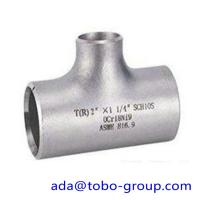 """Buy seamless Stainless Steel Tee , single slit pipe wall thickness 1 / 2 """" NPS Sch5S at wholesale prices"""