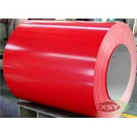 Buy Red Brushed Hydrophilic PE PVDF PVC Coated Aluminium Sheet at wholesale prices