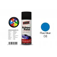 Quality Fluo Blue Color Removable Rubber Spray Paint , Peelable Car Paint Grade 2 Adhesion for sale