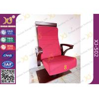 Quality High Plywood Back Embroidered Chairs for Church Hall With Single Legs for sale