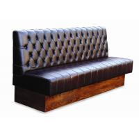Quality Fashion Leather Restaurant Booth Seating , Contemporary Booth Seating for sale