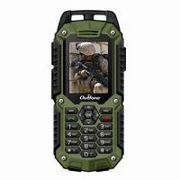 Quality Rugged Mobile Phones, IP57 Water-resistant, Dual-SIM Card, with GPS Navigation for sale
