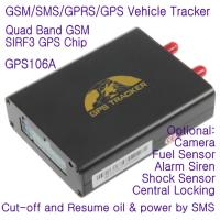Quality GPS106 Car Auto Taxi Truck Fleet GPS GSM Tracker W/ Photo Snapshot & Online GPRS Tracking for sale