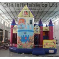 China inflatable disney princess bouncy castle,rent inflatable combo. 3 in 1 combo on sale