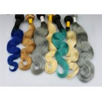 Quality 1b / 613 Ombre Color Remy Human Hair Extensions Body Wave Free Sample for sale