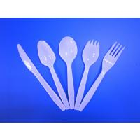 Quality Hot sale Medium Weight Disposable Plastic PP White Cutlery Economic Weight Cutlery 3g for sale