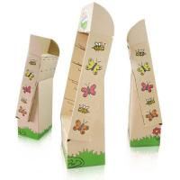 China CMYK printing Paper Cardboard Floor Display with Plastic Hooks on sale