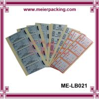 Quality Full Sheet Labels - Printable Sticker Paper/CustomSquare QC Pass Paper Label & Sticker ME-LB021 for sale