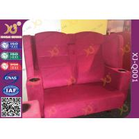 Quality Wooden Frame Fabric Cover VIP Cinema Seating With Armrest / Home Cinema Sofa Seating for sale