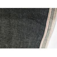 Black Raw Selvedge Denim Fabric 11.2oz Cotton 32/33 Width W93828A With Slub