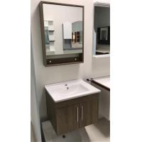 Quality Contemporary Plywood Square Sinks Bathroom Vanities Natural Wood Color for sale