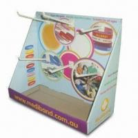 Quality Counter Display, Made of Corrugated Cardboard with Glossy and UV Coating for sale