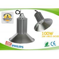 Quality PF0.98 100w Led High Bay Lights CE ROHS Aluminum Heat Sink With Copper Pipe for sale