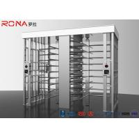 Quality Revolving Full Height Turnstile Gate Double Lane 50dB Noise For Crowd Control for sale