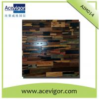 Rustic antique wood mosaic tiles for wall decoration or artistic vision