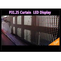 Quality Transparent See - Through Curtain IP 65 , Rental LED Media Facade for Advertising for sale