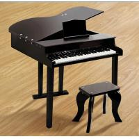 Quality 49 Key Classic Mini Grand Toy Wooden Piano Black For Toddlers FW49 for sale