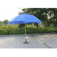 Quality Waterproof Movable Round Outdoor Umbrella , Blue Outdoor Market Umbrella for sale