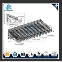 Quality outdoor stadium grandstand permanent grandstand seating with fixed base for sale
