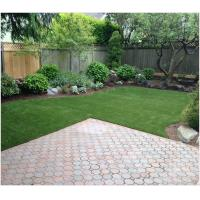 Quality 39mm Synthetic Landscaping Fake Grass Carpet U Shape For Homes Yard SGS Approved for sale