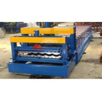 Buy cheap Glazed Steel Plate Rolling Machine, Metal Step Tile Roll Making Machine from wholesalers