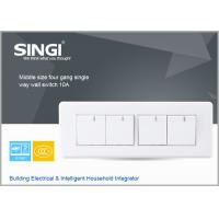 Quality Singapore  type  4gang 2 way switch socket electrical wall switches socket plate 10A 250V for sale