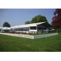 Quality Durable Great Peak Clear Wedding Tents Wind Resistant Environmentally for sale