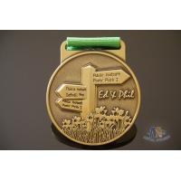 Buy cheap Souvenir Die Casting 3D Effect Antique Gold Custom Award Medals With Printing from wholesalers