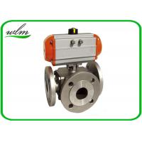 Quality Light Weight Sanitary Ball Valves Aluminum Pneumatic Actuator , Flanged Connection End for sale