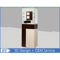 Quality Custom Wooden Coating Jewelry Tower Showcases With LED Light Brown Color for sale