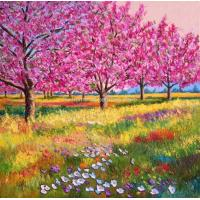 Quality frame painting trees interior wall art painting for sale