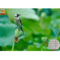 Quality Garden Plastic Bird Netting UV Stabilised , Square Plastic Bird Mesh Black Color for sale