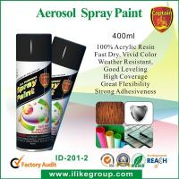 Buy Fast Dry 400ml Aerosol Spray Paints /  High Coverage Black Spray Paint For Cars at wholesale prices